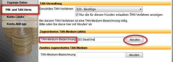 TAN-Verfahren wählen